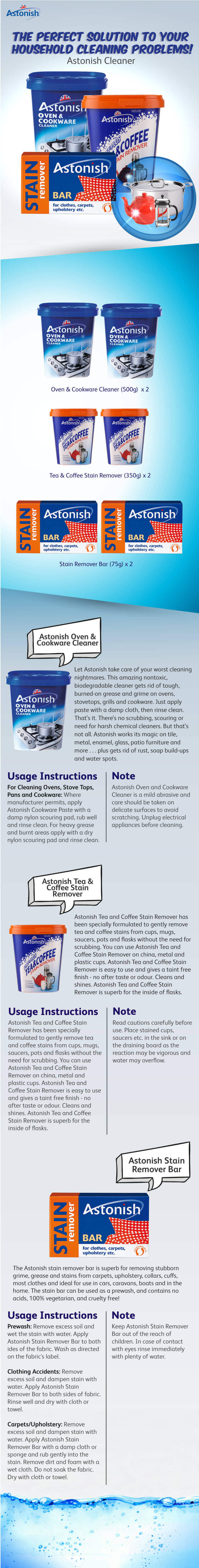 Astonish cleaner go shop - Coffee stains oil stains get rid easily ...